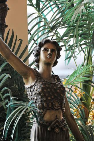 Large Art Deco Bronze Lady Standard Lamp $4500