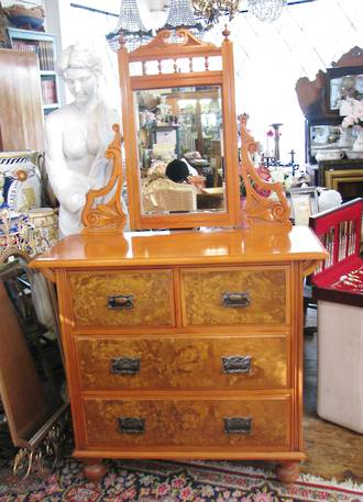 New Zealand Kauri & Totara Dresser with Mirror $2100