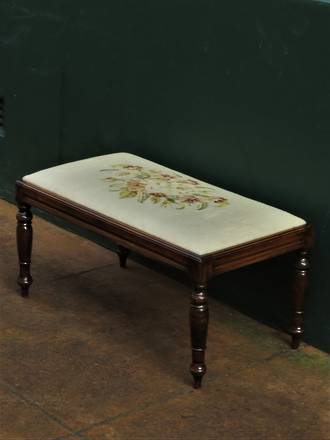 Vintage Tapestry Bench Stool $445
