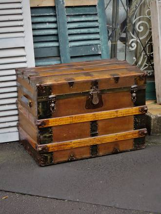 19th Century Saratoga or Carriage Trunk SOLD