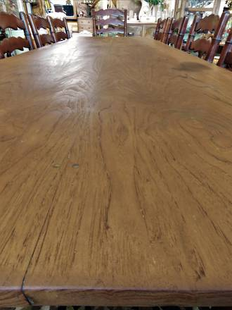 Very Long Narrow 12 place Dining Table - Unique Rustic Design $2950.00