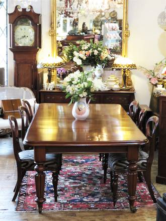 Large English Mahogany Extension Table $4250