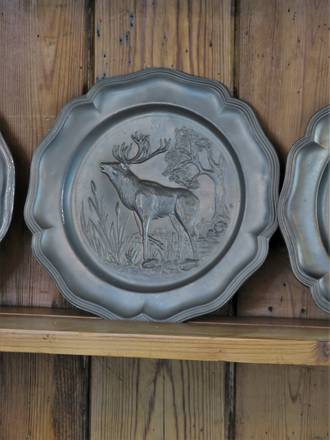 Pewter Stag Decorative plate
