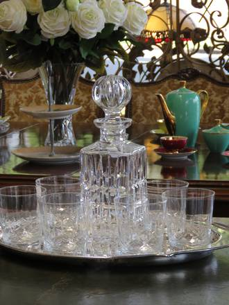 Cut Crystal Whiskey Glasses set of 6