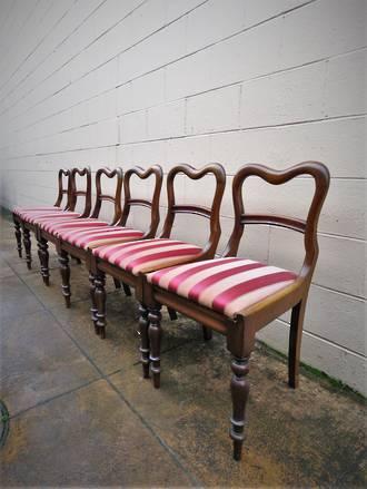 Regency Mahogany Dining Chairs x 6 $2100.00
