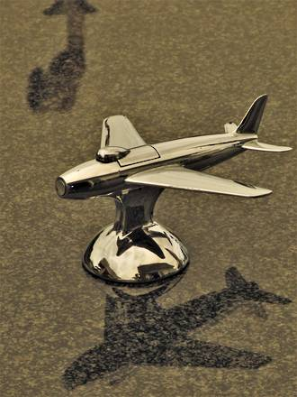 Rare 1951 Sabre Jet Fighter Chrome Lighter by Dunhill $950