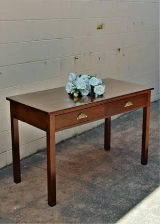 Handsome Solid Oak Desk Circa 1920 - Arts & Crafts Era