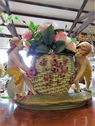 Large Antique Amphora Basket Jardiniere $595