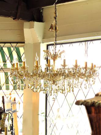 Huge 22 arm 'Champagne' Classical Gold Tinted Crystal Chandelier $7500.00