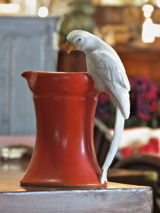 Royal Bayreuth Parrot Handle Milk Pitcher Jug SOLD