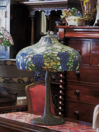 Huge Tiffany Inspired Table Lamp - Handmade Lead-light  Shade $850