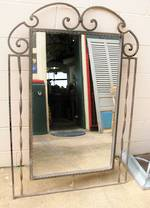 Large Wrought Iron Mirror $750.00