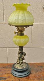 Reproduction Bronze Cherub Kero Lamp