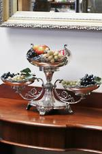 Large Art Nouveau Silver Plate Centerpiece or Table Platter $1250