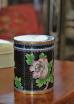 Vintage Chinese Cloisonne Spice Jar