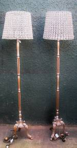 Carved Standard lamp with Hand Beaded & crystalized shade $1250.00 each