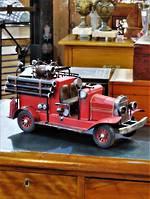 Vintage Hand Built Fire Truck Model