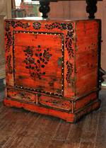 Antique Chinese Cabinet - Painted Elm
