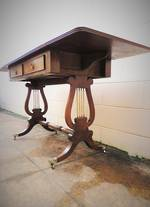 1920's English Walnut Drop Leaf Sofa Table $1995