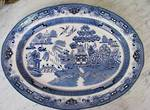 Large Blue & White Roasting Platter Reproduction