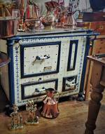French Antique Kitchen Stove - Tiled Cast Iron $2500.00