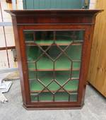 Antique Oak Corner Cabinet $1495