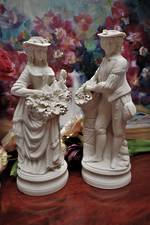 19th Century Parian Ware Harvesting Figures $2250 pair