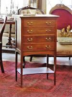 Elegant Edwardian Music, Filing or Lingerie Cabinet $795.00