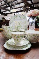 1930's English Porcelain 21 piece Tea Set $225