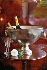 Huge Silver Gilded French Antique Style Champagne Ice Bucket
