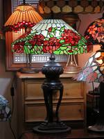 Huge Lead-lite Rose Mosaic Table Lamp