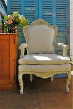 Substantial Pair of French Provincial Arm Chairs - $2500 pair