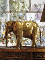 Large Bronze & Brass African Elephant Sculpture