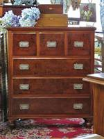Magnificent Colonial Mottled Kauri Scotch Chest of Drawers $2750