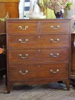 Georgian Oak Chest of Drawers $2950.00