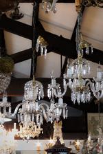 Art Deco Czechoslovakian Crystal Chandelier - $2500 each. Pair available
