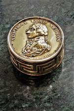 Georgian Commemorative Brass Snuff Box - Admiral Lord Nelson  - 1805 SOLD