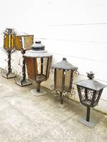 Large Wrought Iron Out Door Lamps & Veranda Lights