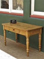 Early Antique English Baltic pine rustic Desk or Work Table $1650.00