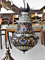 Unique Leadlight Basket Chandelier $2750.00