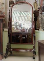 Huge Victorian Cheval Mirror - Large Tilting Dress Mirror $2950.00