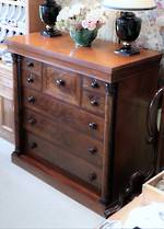 Large Georgian Chest of Drawers, Cuban Mahogany $4250