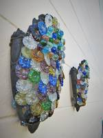Blown Glass Beaded Wall Sconces SOLD
