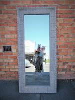 Large Pressed Metal Mirror in Taupe $899.00 soft chrome finish also available
