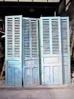 Antique French Shutters - Door Panels  $1350.00 pr