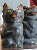 Royal Bayreuth Black Cat Milk Pitcher Jug SOLD