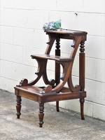 Robust Vintage  Mahogany Library Step Ladder. Sold