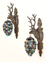 Unique Stag Head Grape Light Wall Brackets $1350.00 pr