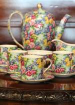 Royal Winton 'Julia' 1930s Chintz Coffee Set