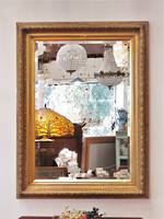 Large Ornate Gilded Italian Bevel Edged Mirror $1250
